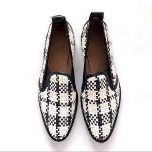 Everlane Woven Street Shoe Black and White 7.5